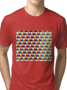 Triangle geometric multiply pattern Tri-blend T-Shirt