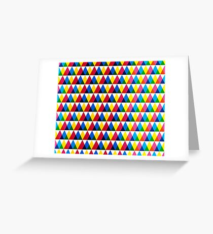 Triangle geometric multiply pattern Greeting Card