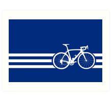Bike Stripes White x 3 Art Print