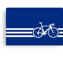 Bike Stripes White x 3 Canvas Print