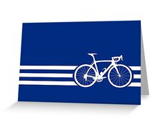 Bike Stripes White x 3 Greeting Card
