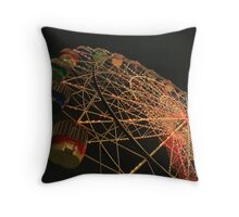 Wheel by Night Throw Pillow