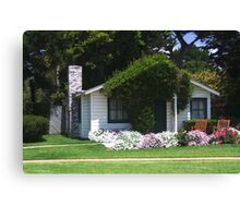 Cottage at Mission Ranch from famous movie Canvas Print
