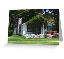 Cottage at Mission Ranch from famous movie Greeting Card