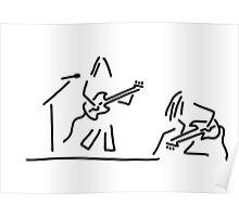 rock musician guitar headbanger Poster