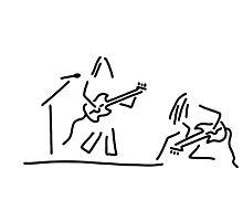 rock musician guitar headbanger Photographic Print