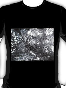 Snowstorm winter snow abstract black white T-Shirt