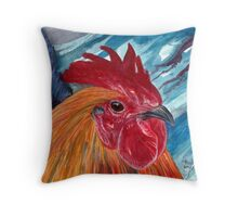 A Little Cocky Throw Pillow