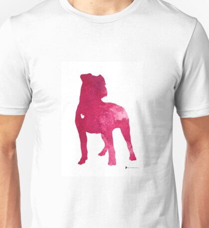 American staffordshire terrier large poster Unisex T-Shirt