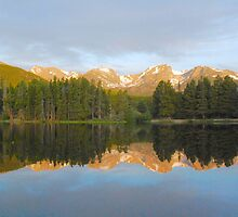Morning Reflections, Sprague Lake by Stephen Vecchiotti