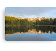 Morning Reflections, Sprague Lake Canvas Print