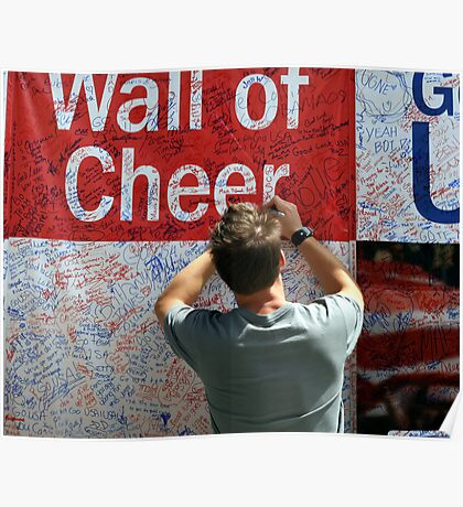 The Chicago Olympics Wall of Cheer Poster
