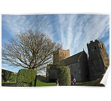 Family entering St Mary Church inside Dover Castle in England Poster