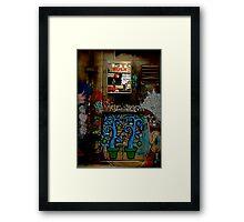 Graffiti and Lightbox Hosier Lane Framed Print