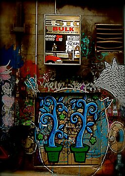 Graffiti and Lightbox Hosier Lane by Louise Fahy