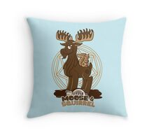 My Little Moose & Squirrel Throw Pillow