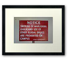 Jamaican sign... Framed Print