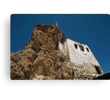tibetan gompa. northern india Canvas Print