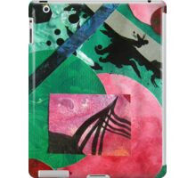 Uncharted abstract space landscape green red black iPad Case/Skin