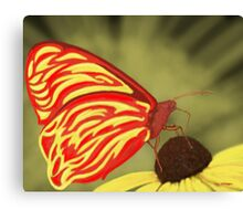 Flame Butterfly Canvas Print