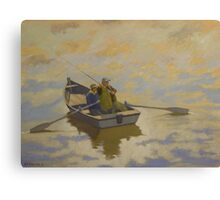 Salmon Fishing on the Tweed. Canvas Print
