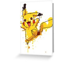 Pikachu Splatter Greeting Card