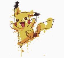Pikachu Splatter Kids Clothes