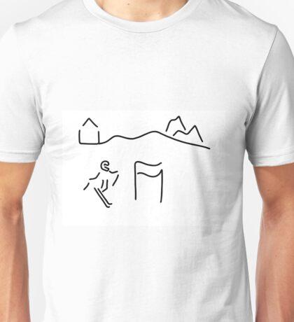 alpine skier Unisex T-Shirt