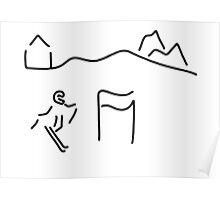 alpine skier Poster