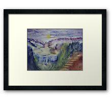 Landscape in an experimental technique Framed Print