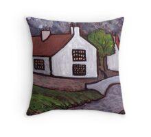 Ovington village Northumberland U.K in cira 1910 Throw Pillow