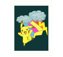 Pikachu Sky Art Print
