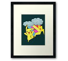 Pikachu Sky Framed Print