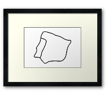 map spain portugal Framed Print
