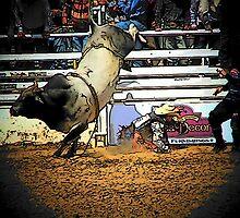 Bull Riding Minus the Rider by Darlene Wilson