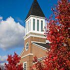 Brick Church in Autumn by dbvirago