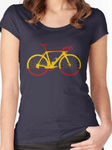 Bike Flag Spain (Big) Women's Fitted Scoop T-Shirt
