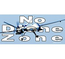 No Drone Zone Photographic Print
