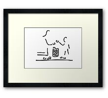 play child Framed Print