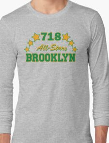 718 BROOKLYN ALLSTARS*GREEN/YELLOW Long Sleeve T-Shirt