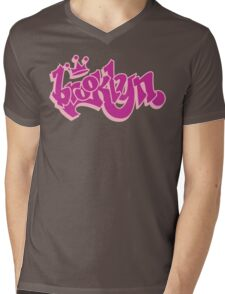 BROOKLYN GRAFF STYLE*PINK Mens V-Neck T-Shirt