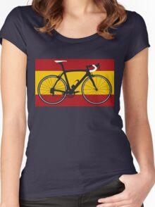 Bike Flag Spain (Big - Highlight) Women's Fitted Scoop T-Shirt