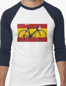 Bike Flag Spain (Big - Highlight) Men's Baseball ¾ T-Shirt
