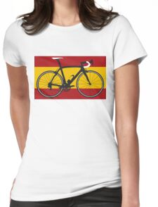 Bike Flag Spain (Big - Highlight) Womens Fitted T-Shirt