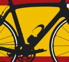 Bike Flag Spain (Big - Highlight) Sticker
