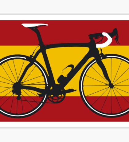Bike Flag Spain (Big - Highlight) Sticker