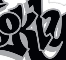 BROOKLYN GRAFF STYLE*BLACK/SILVER Sticker