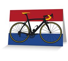 Bike Flag Netherlands (Big - Highlight) Greeting Card