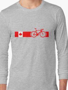 Bike Stripes Canadian National Road Race Long Sleeve T-Shirt