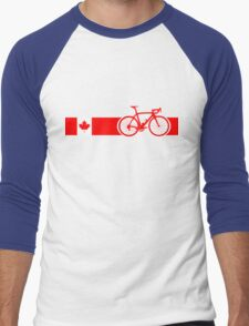 Bike Stripes Canadian National Road Race Men's Baseball ¾ T-Shirt